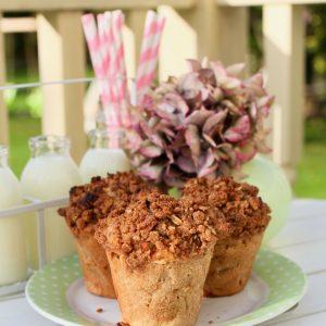 Apple Crisp Breakfast Muffins