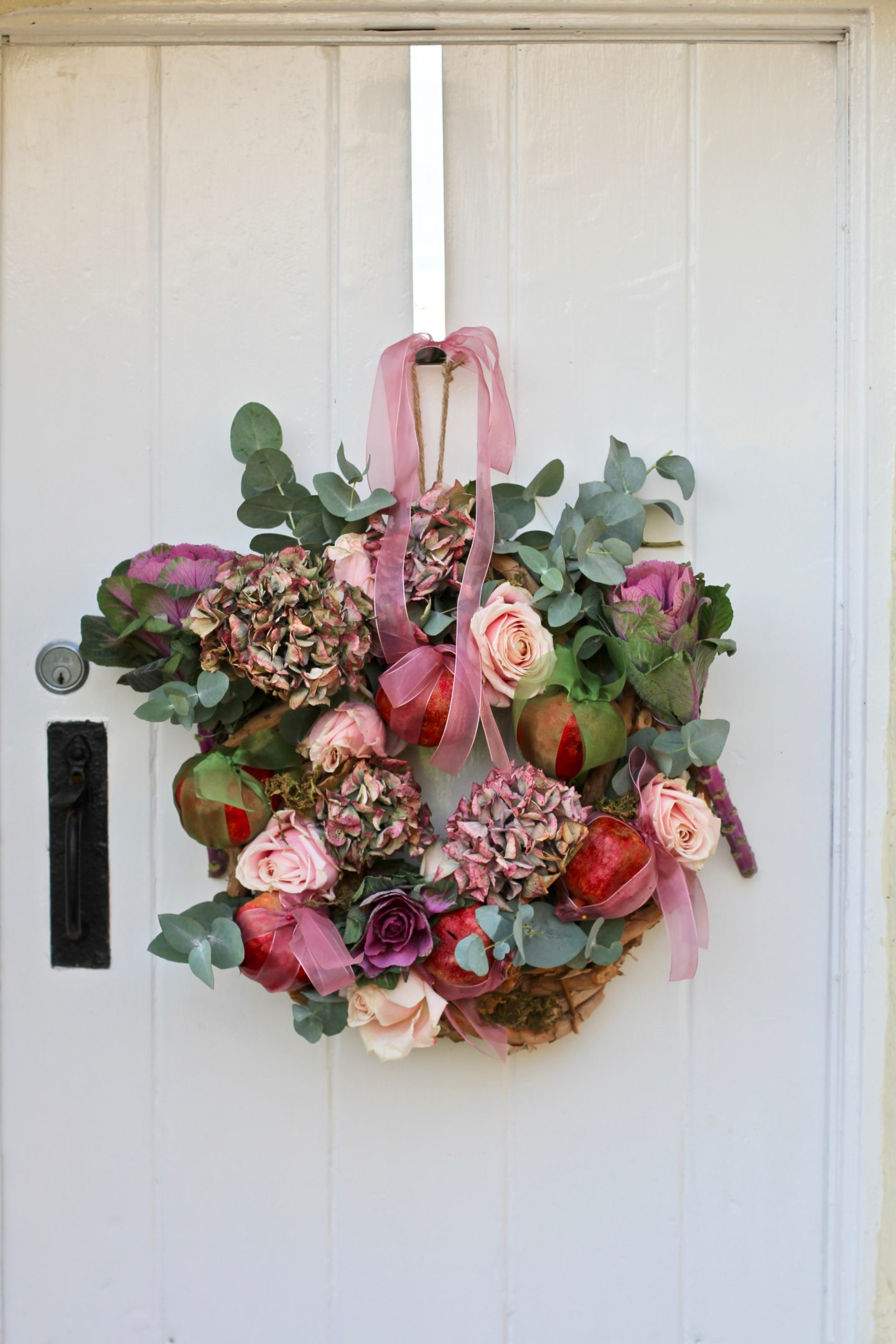 Rose & Pomegranate Door Wreath 12